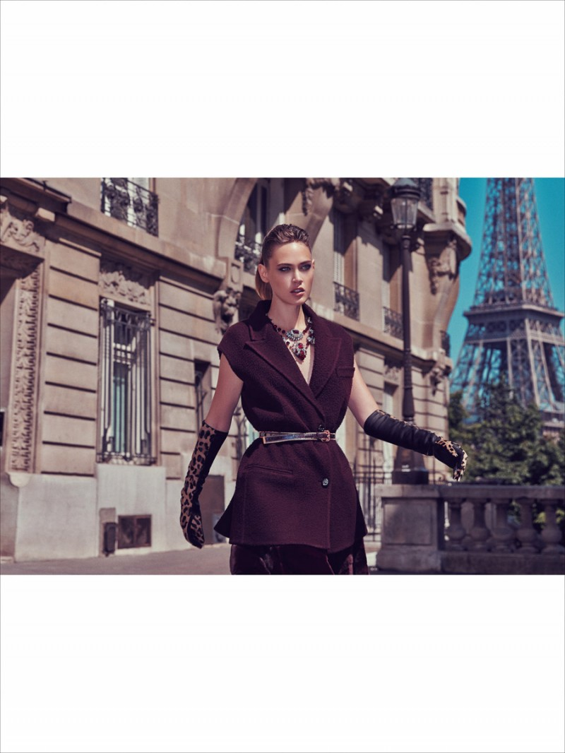 MC CHINA 09 800x1066 Sarah Emilia is Parisian Chic for Marie Claire China by Dennison Bertram