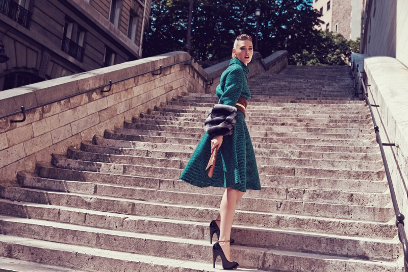 MC CHINA 15 800x533 Sarah Emilia is Parisian Chic for Marie Claire China by Dennison Bertram