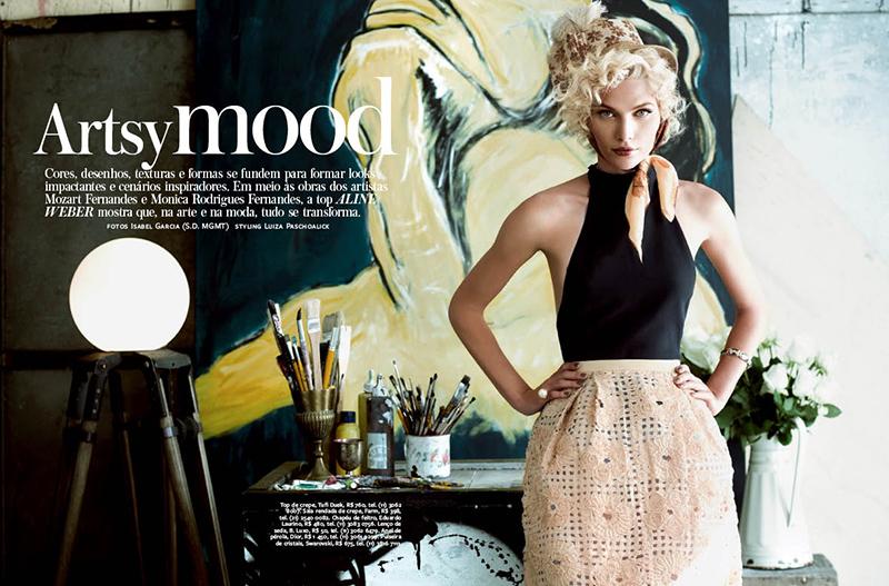 Aline Weber Gets Artsy for InStyle Brazil's September 2013 Issue