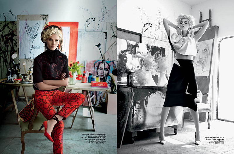 MODAAline weber2 Aline Weber Gets Artsy for InStyle Brazils September 2013 Issue