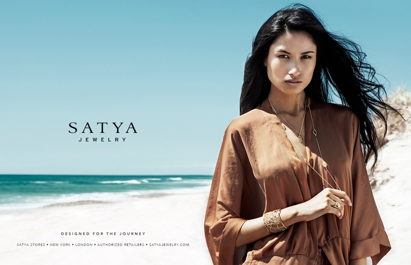 Satya Garriga VMGroupe02 Varsha Thapa Stars in Satya Jewelry Fall 2013 Ads by Daniel Garriga