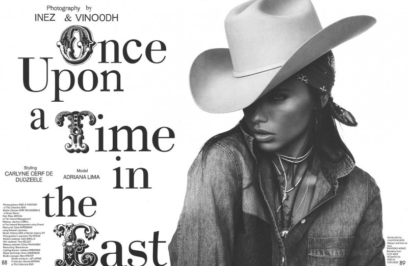 adriana inez vinoodh1 800x523 Adriana Lima Wows in Western Style for Garage Shoot by Inez & Vinoodh
