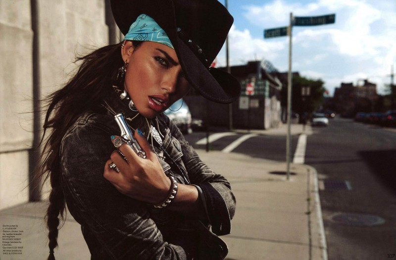 Adriana Lima Wows In Western Style For Garage Shoot By