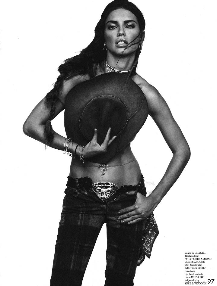 adriana inez vinoodh2 Adriana Lima Wows in Western Style for Garage Shoot by Inez & Vinoodh