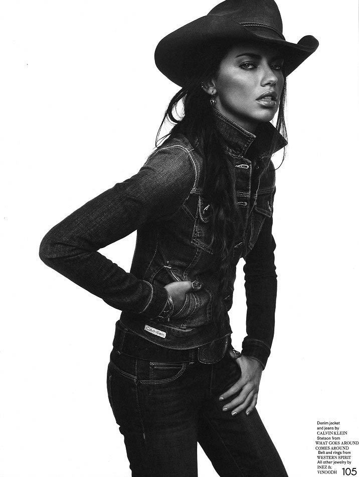 adriana inez vinoodh5 Adriana Lima Wows in Western Style for Garage Shoot by Inez & Vinoodh