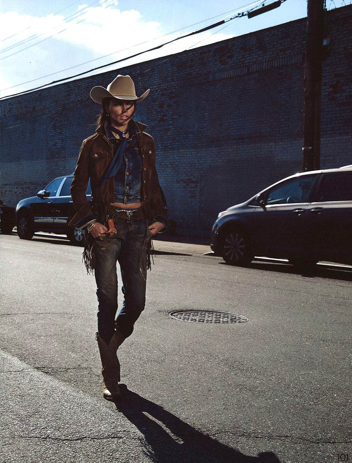 Adriana Lima Wows in Western Style for Garage Shoot by Inez & Vinoodh