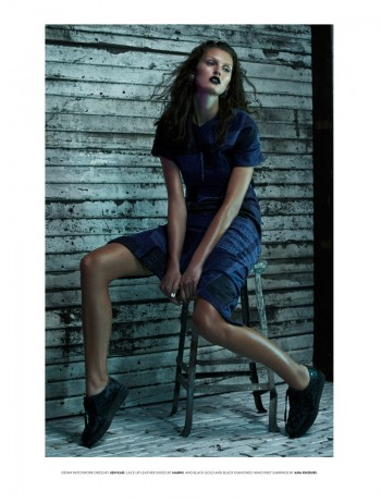 Ali Stephens is a Rebel in Denim for Flaunt by Zoey Grossman