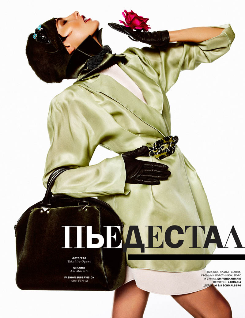 Alina Baikova Gets Dramatic for Takahiro Ogawa in L'Officiel Ukraine