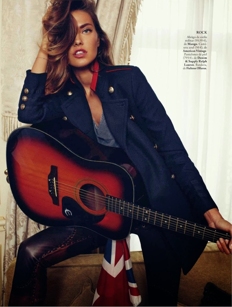 alina xavi gordo4 Alina Baikova Wears British Inspired Style for Xavi Gordo in Elle Spain Shoot