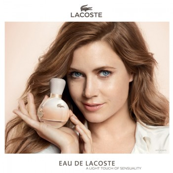 "Amy Adams Fronts ""Eau De Lacoste"" Fragrance Ad"