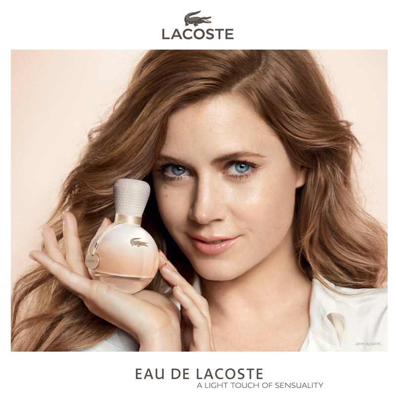 "Amy Adams Fronts ""Eau De Lacoste"" Fragrance Ad"