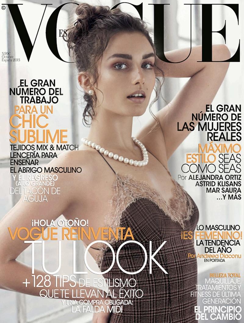andreea diaconu shoot1 Andreea Diaconu Models Boyish Style for Mariano Vivanco in Vogue Spain
