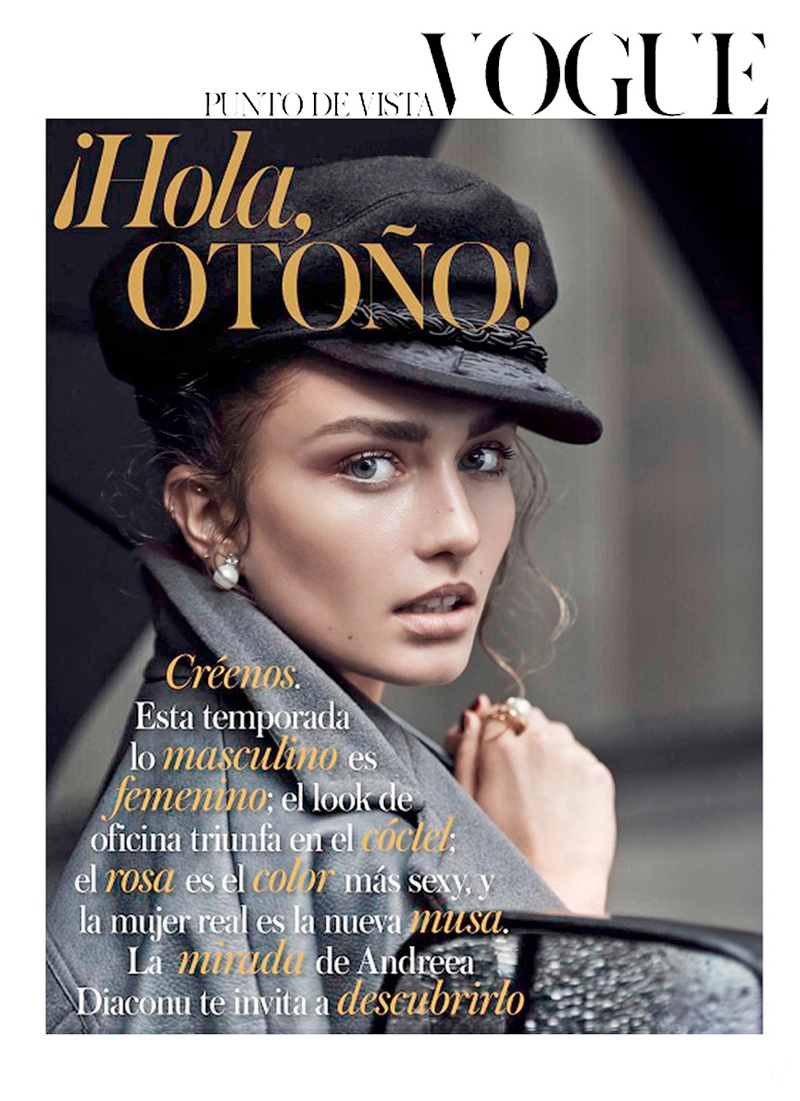 andreea diaconu shoot2 Andreea Diaconu Models Boyish Style for Mariano Vivanco in Vogue Spain