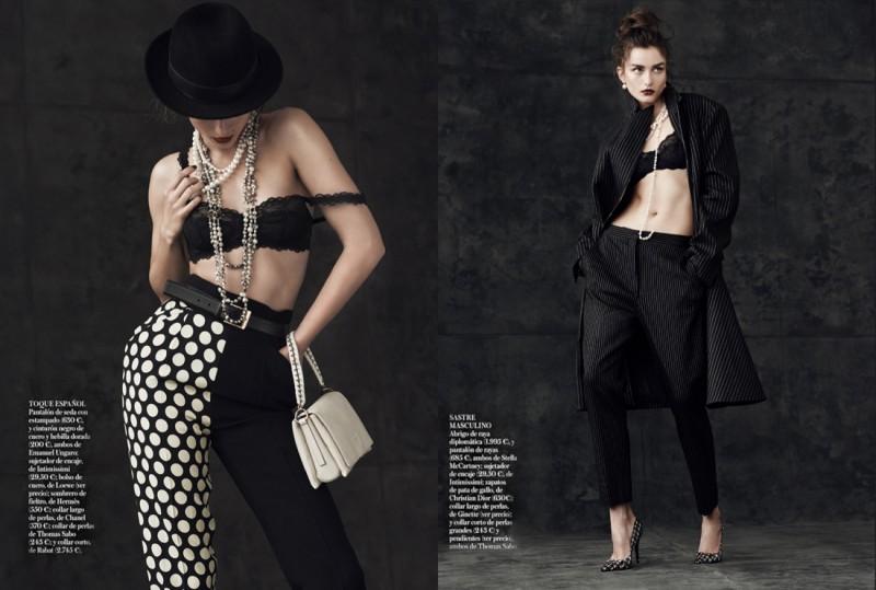 andreea diaconu shoot6 800x539 Andreea Diaconu Models Boyish Style for Mariano Vivanco in Vogue Spain