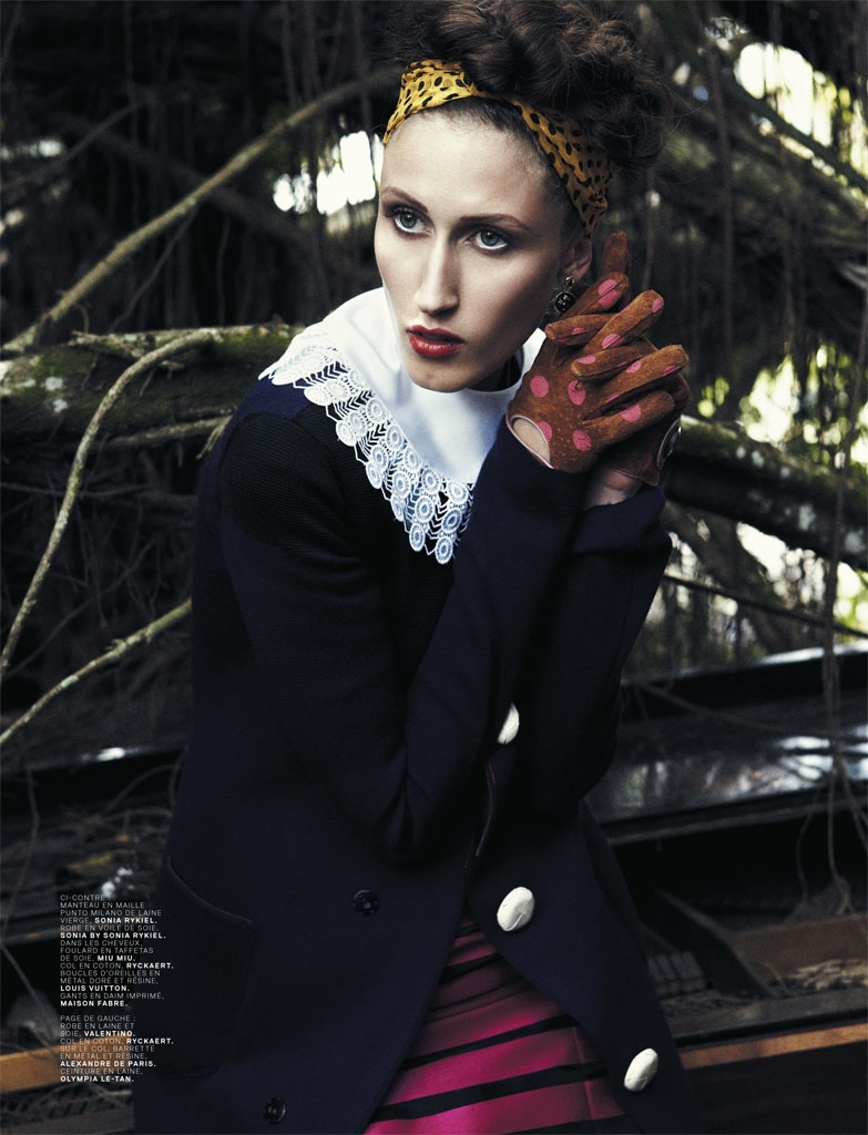 Anna Cleveland Delivers Drama for Bjarne Jonasson in Jalouse Shoot