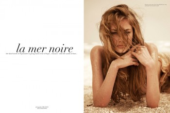 "Anna Roos van Wijngaarden by Tibi Clenci in ""La Mer Noire"" for Fashion Gone Rogue"