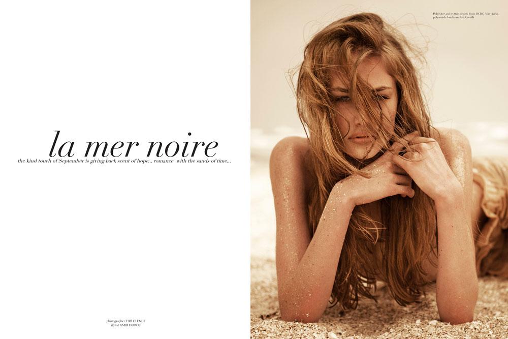 "Anna Roos van Wijngaarden by Tibi Clenci in ""La Mer Noire"" for Fashion Gone Rogue"