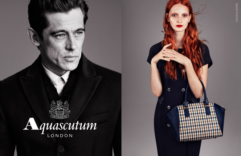 aquascutum fall 2013 ads1 Codie Young Fronts Aquascutums Fall 2013 Campaign