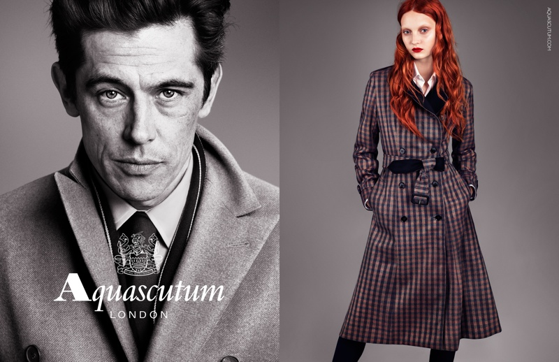 Codie Young Fronts Aquascutum's Fall 2013 Campaign
