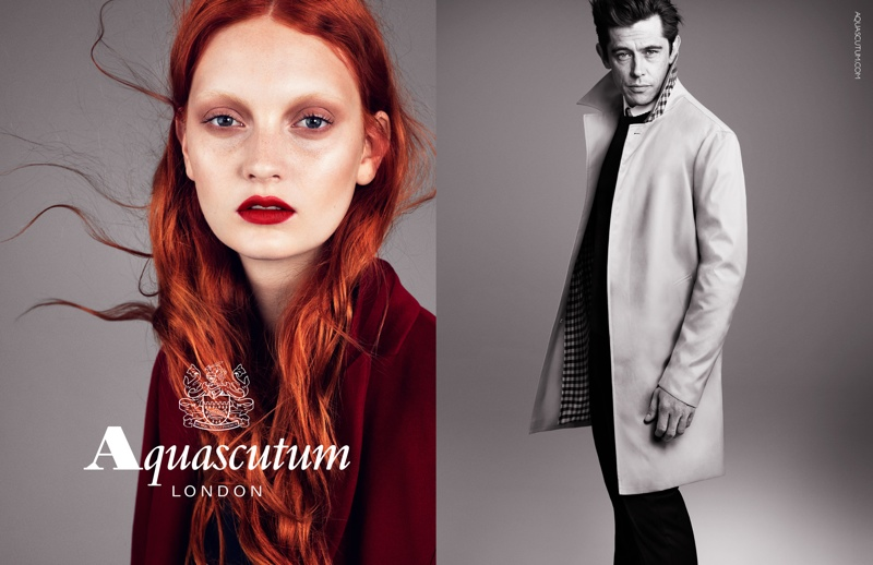 aquascutum fall 2013 ads3 Codie Young Fronts Aquascutums Fall 2013 Campaign