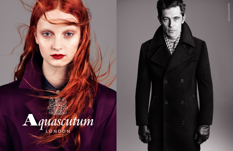 aquascutum fall 2013 ads4 Codie Young Fronts Aquascutums Fall 2013 Campaign