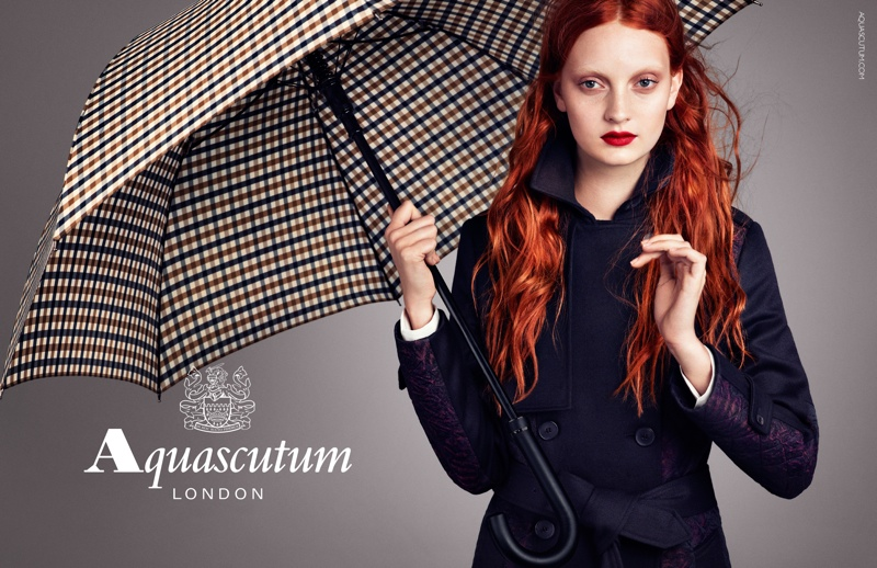 aquascutum fall 2013 ads5 Codie Young Fronts Aquascutums Fall 2013 Campaign