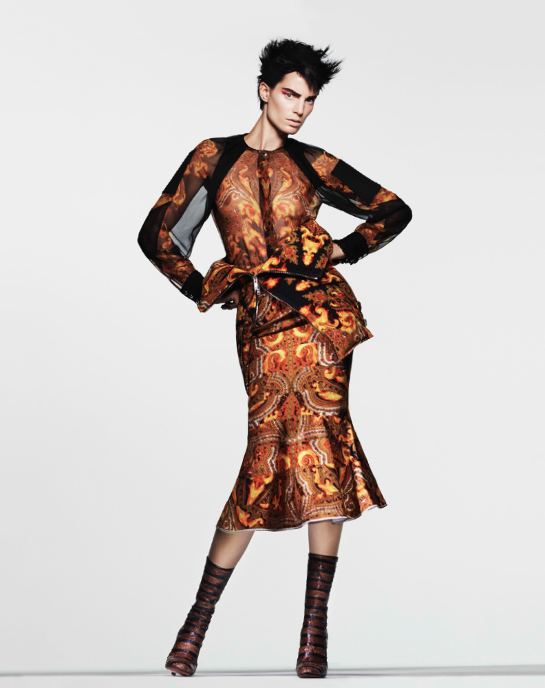 bergdorf print catalog15 Iris Strubegger Wows in Prints for Bergdorf Goodman Magazine Fall 2013