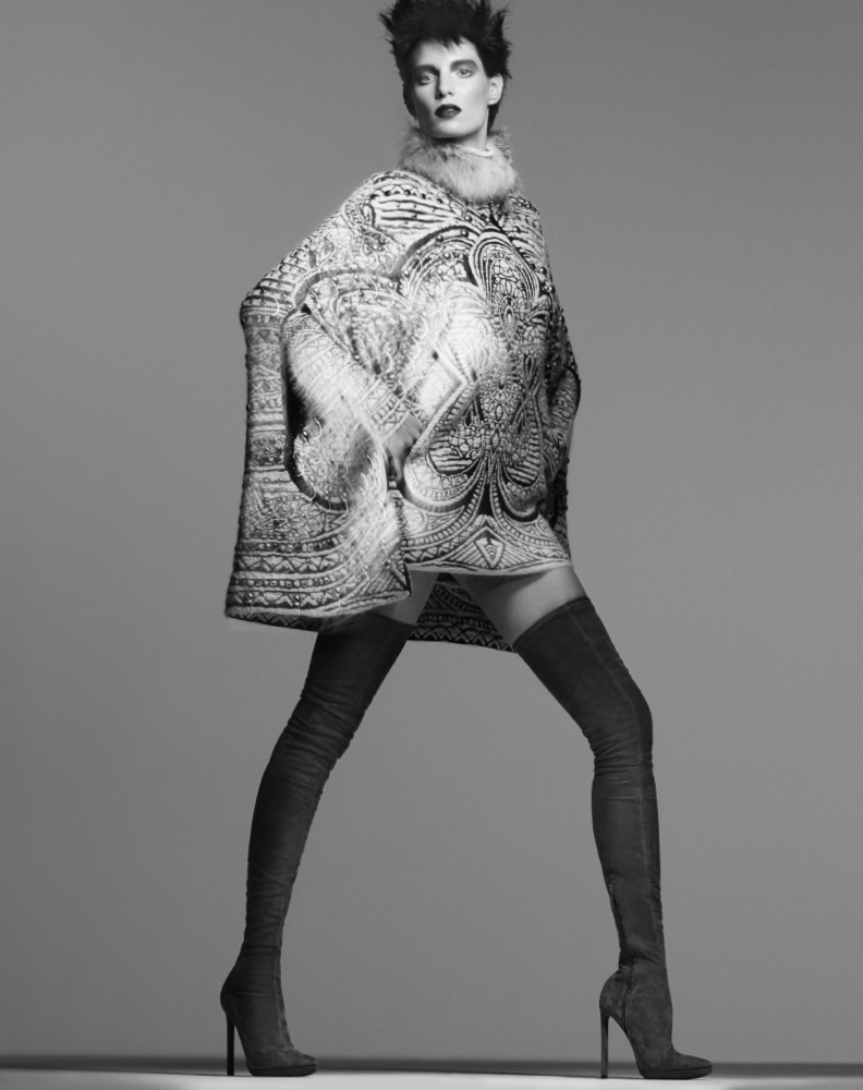 Iris Strubegger Wows in Prints for Bergdorf Goodman Magazine Fall 2013