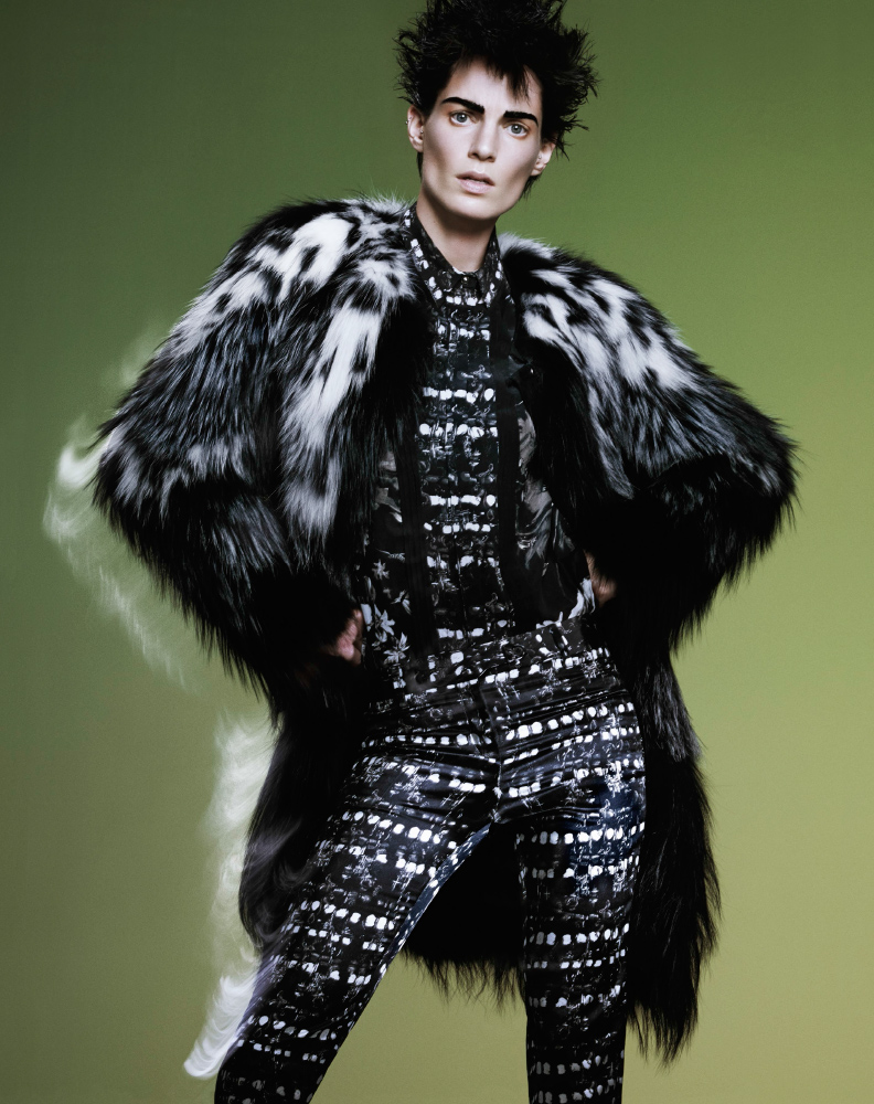 bergdorf print catalog7 Iris Strubegger Wows in Prints for Bergdorf Goodman Magazine Fall 2013