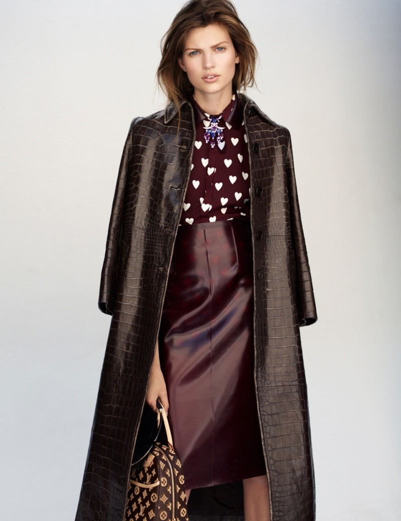 Bette Franke Models Fall Looks in Thomas Whitesides Elle France Shoot