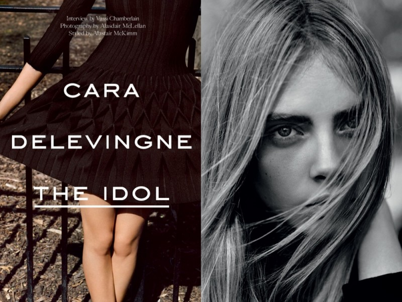 cara the idol1 800x601 Cara Delevingne Poses for Alasdair McLellan in Industrie #6