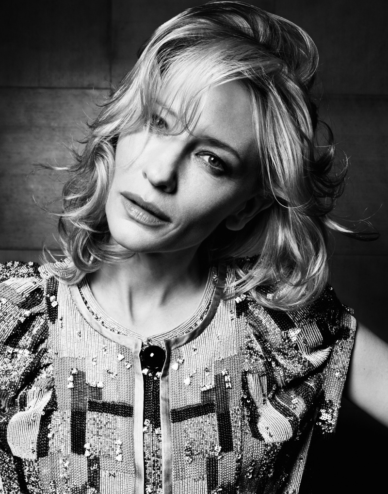 cate blanchett1 Cate Blanchett Poses in Armani for Io Donna Shoot by Gianluca Fontana