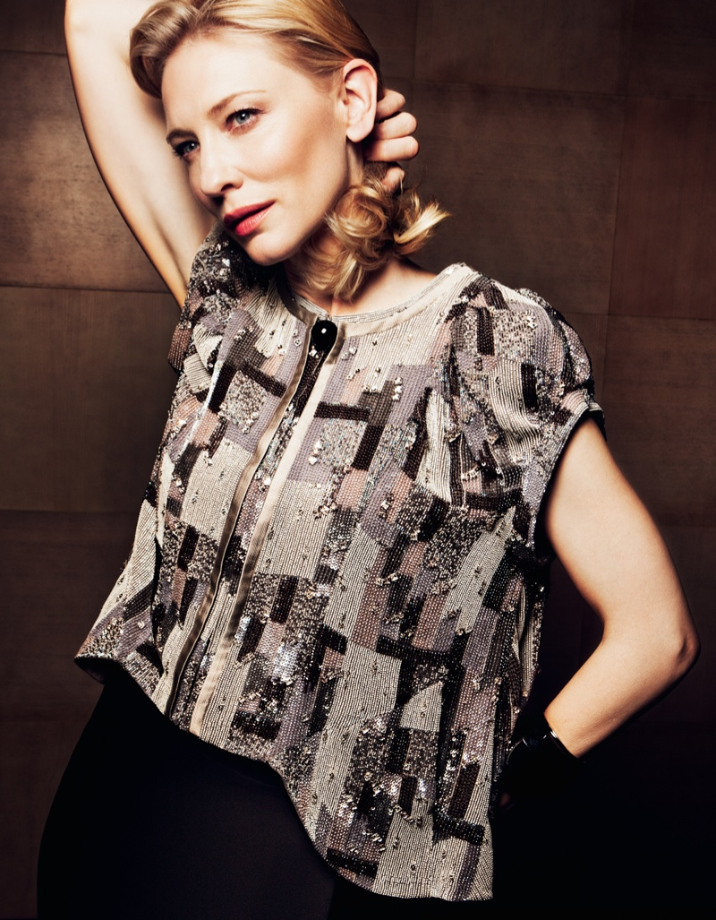cate blanchett2 Cate Blanchett Poses in Armani for Io Donna Shoot by Gianluca Fontana