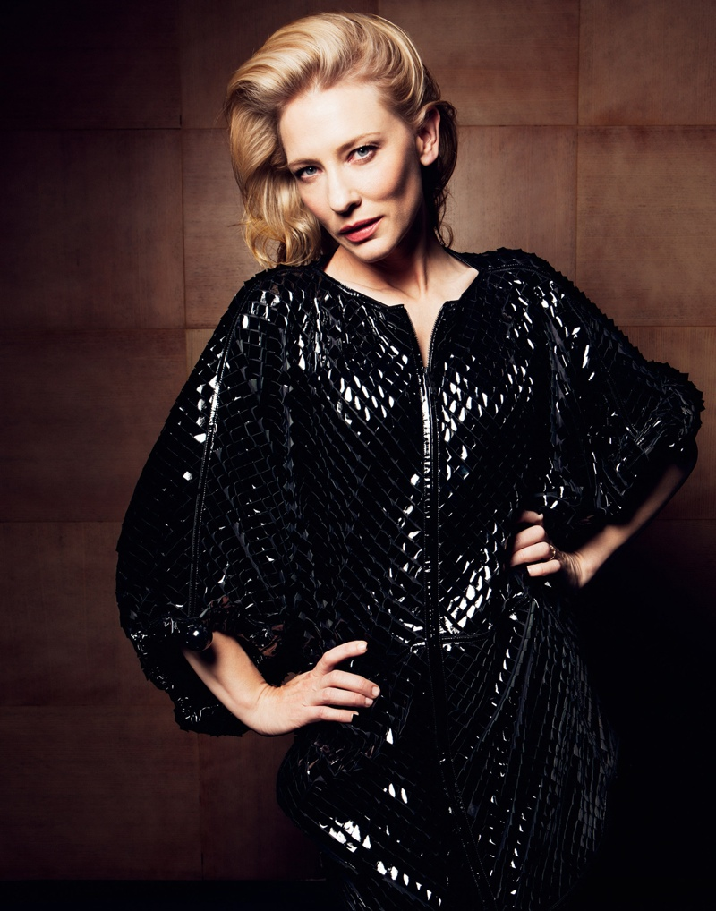 cate blanchett3 Cate Blanchett Poses in Armani for Io Donna Shoot by Gianluca Fontana