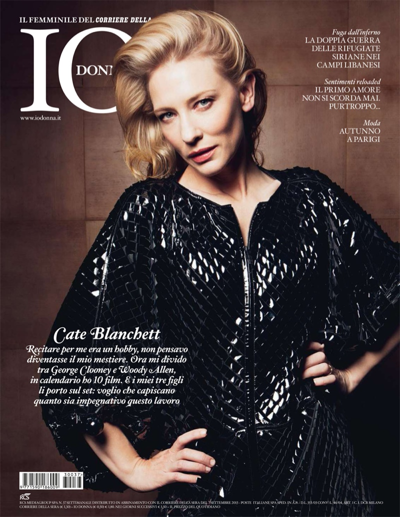 cate blanchett5 Cate Blanchett Poses in Armani for Io Donna Shoot by Gianluca Fontana