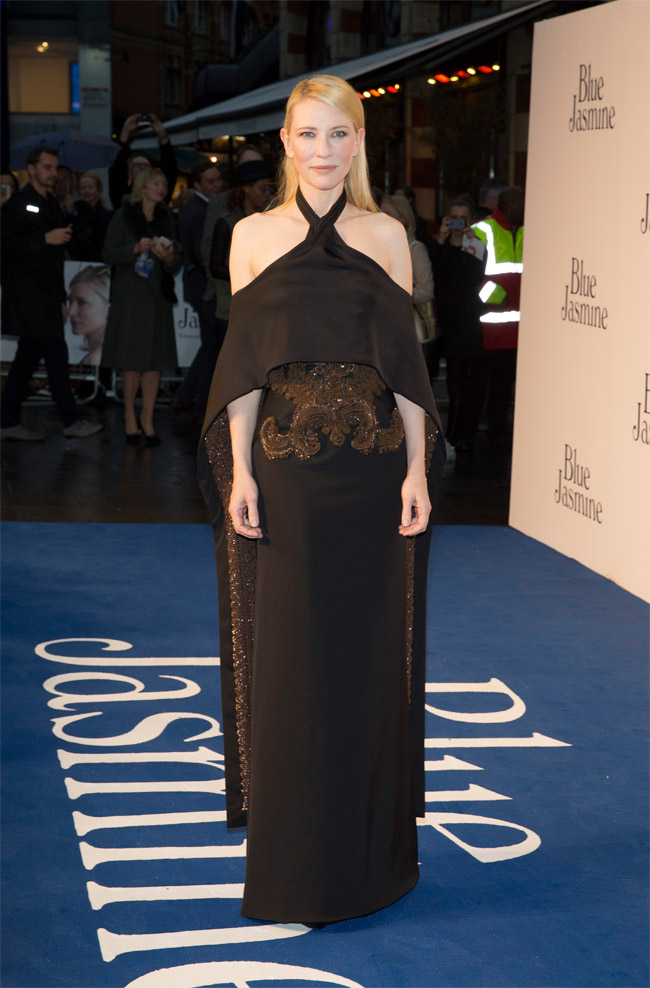 "Cate Blanchett Wears Givenchy Haute Couture at the ""Blue Jasmine"" London Premiere"