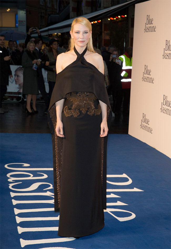 cate givenchy2 Cate Blanchett Wears Givenchy Haute Couture at the Blue Jasmine London Premiere