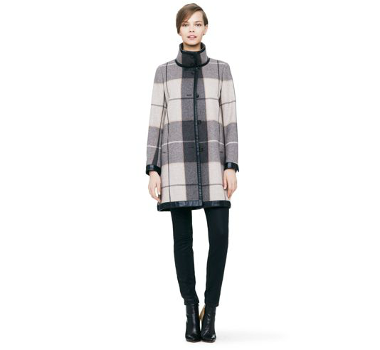 club monaco plaid coat 6 Plaid Looks Inspired by Fall Runway Style