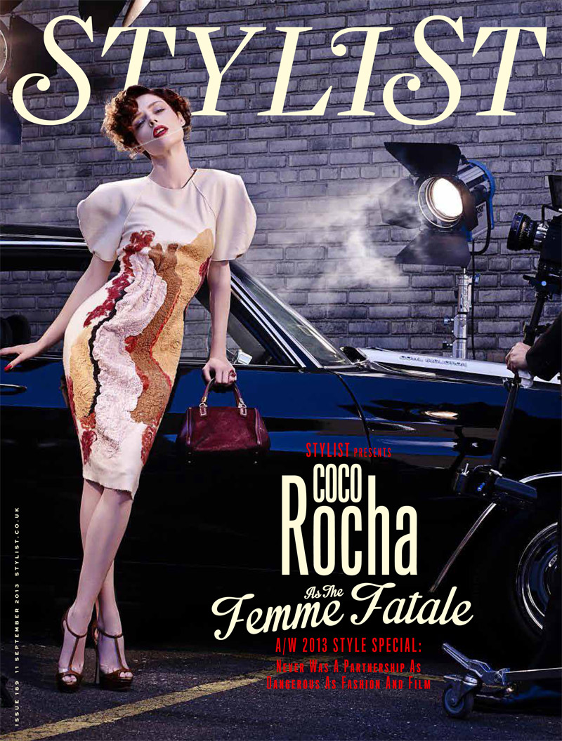 coco film noir1 Coco Rocha Models New Haircut in Film Noir Shoot for Stylist Magazine
