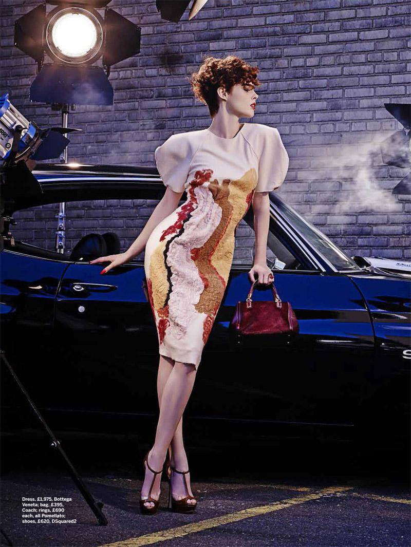 Coco Rocha Models New Haircut in Film Noir Shoot for Stylist Magazine