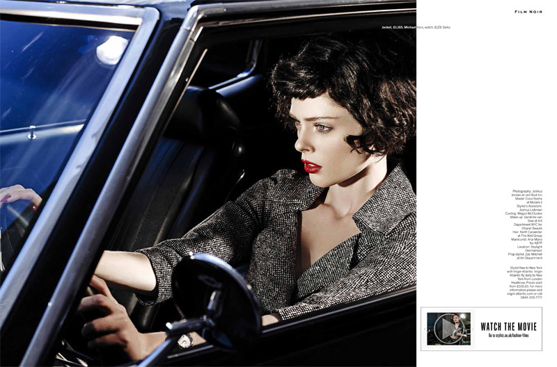 coco film noir12 Coco Rocha Models New Haircut in Film Noir Shoot for Stylist Magazine