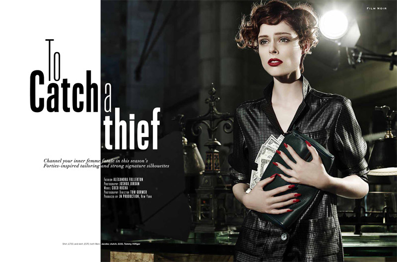 coco film noir2 Coco Rocha Models New Haircut in Film Noir Shoot for Stylist Magazine