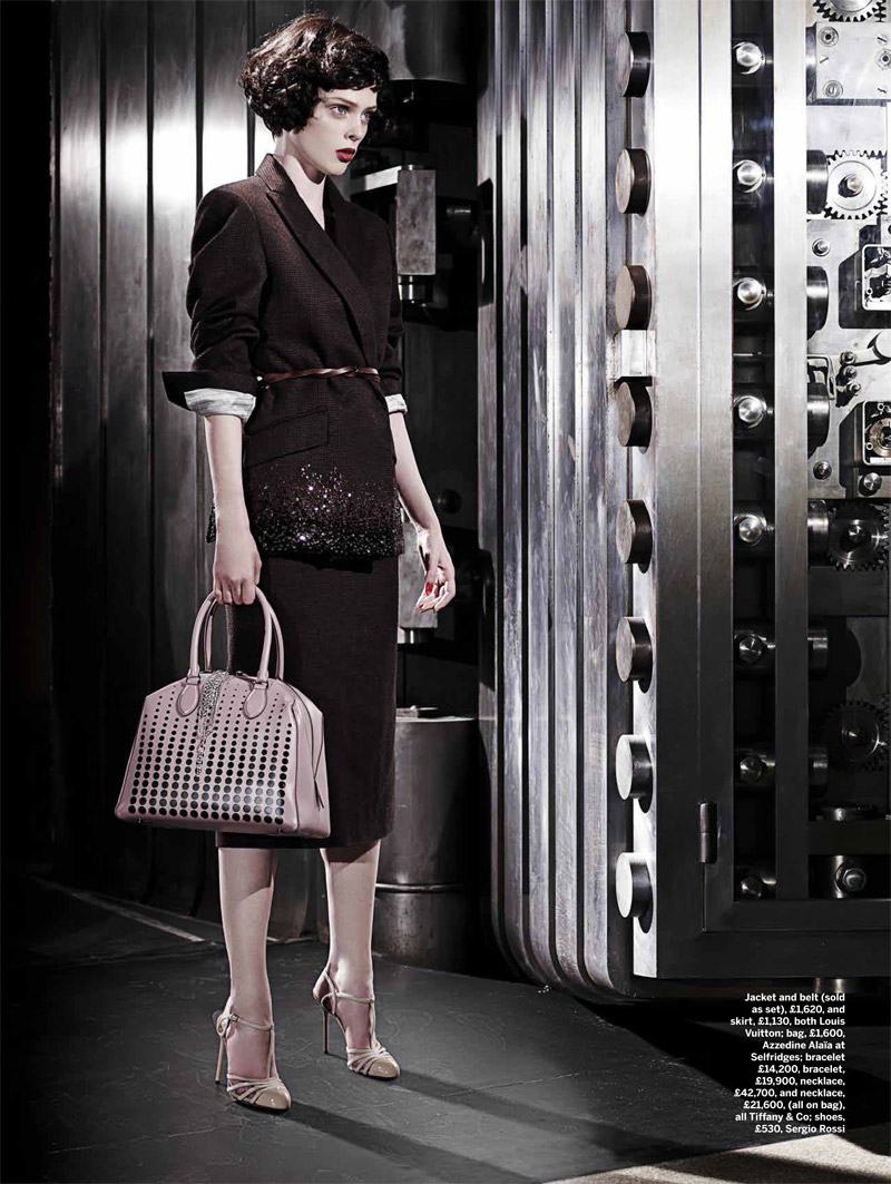 coco film noir3 Coco Rocha Models New Haircut in Film Noir Shoot for Stylist Magazine