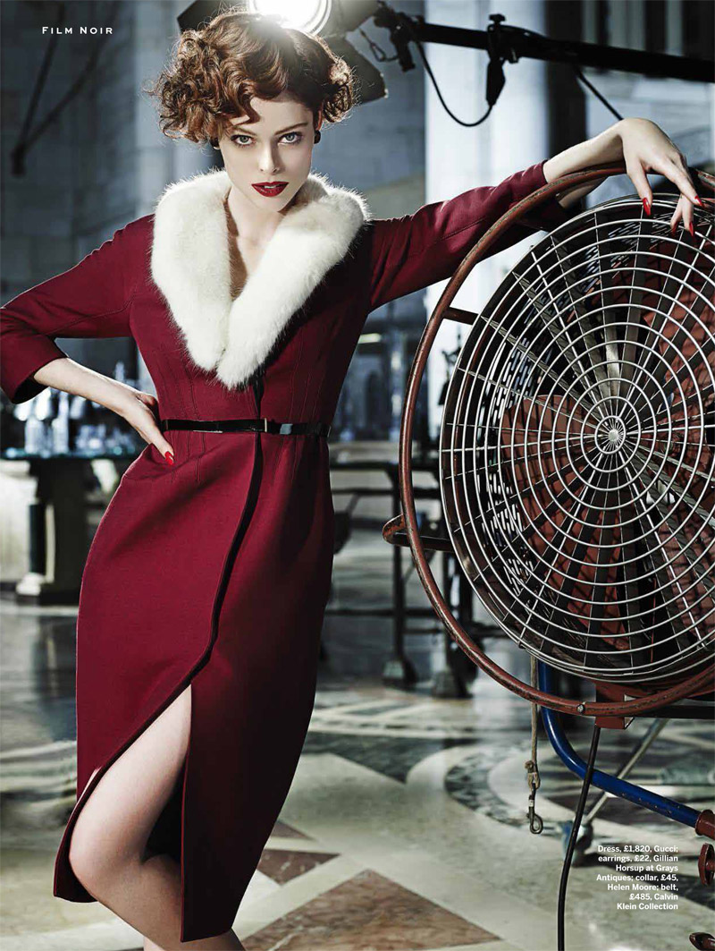 coco film noir8 Coco Rocha Models New Haircut in Film Noir Shoot for Stylist Magazine