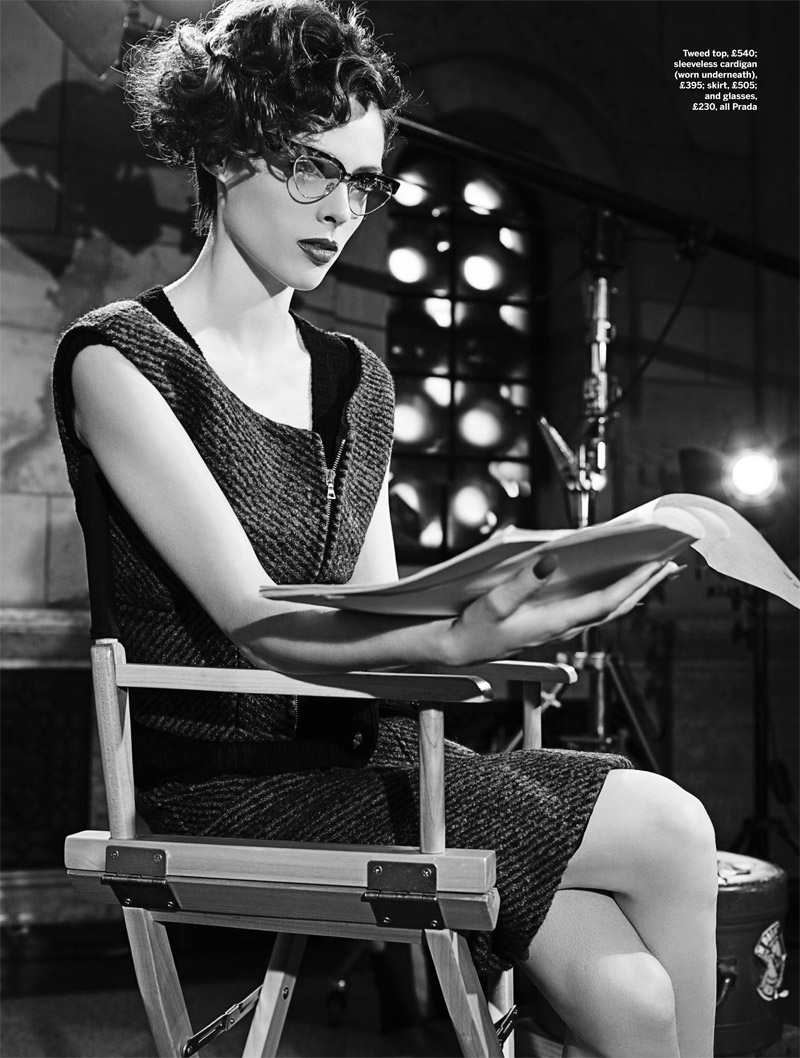 coco film noir9 Coco Rocha Models New Haircut in Film Noir Shoot for Stylist Magazine