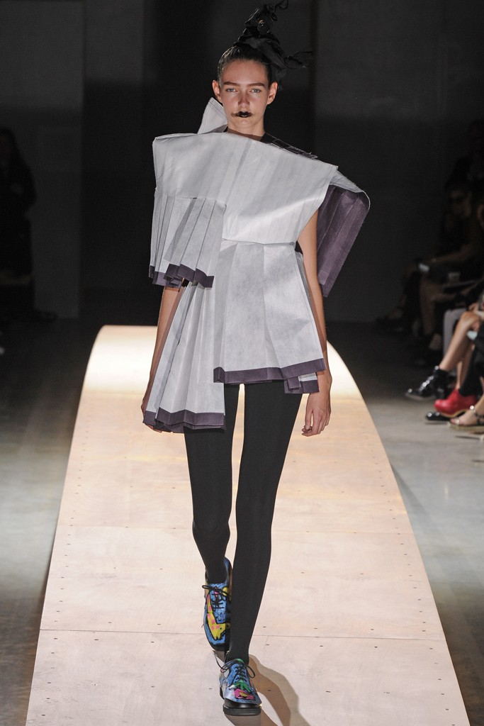 comme des garcons Paris Fashion Week Spring/Summer 2014 Day 5 Recap | Jean Paul Gaultier, Viktor & Rolf, Haider Ackermann + More