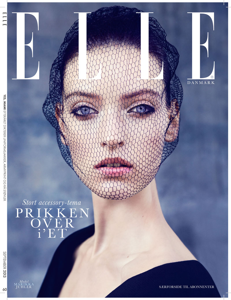 cover abo Marikka Juhler Stars in Elle Denmark September 2013 by Oliver Stalmans