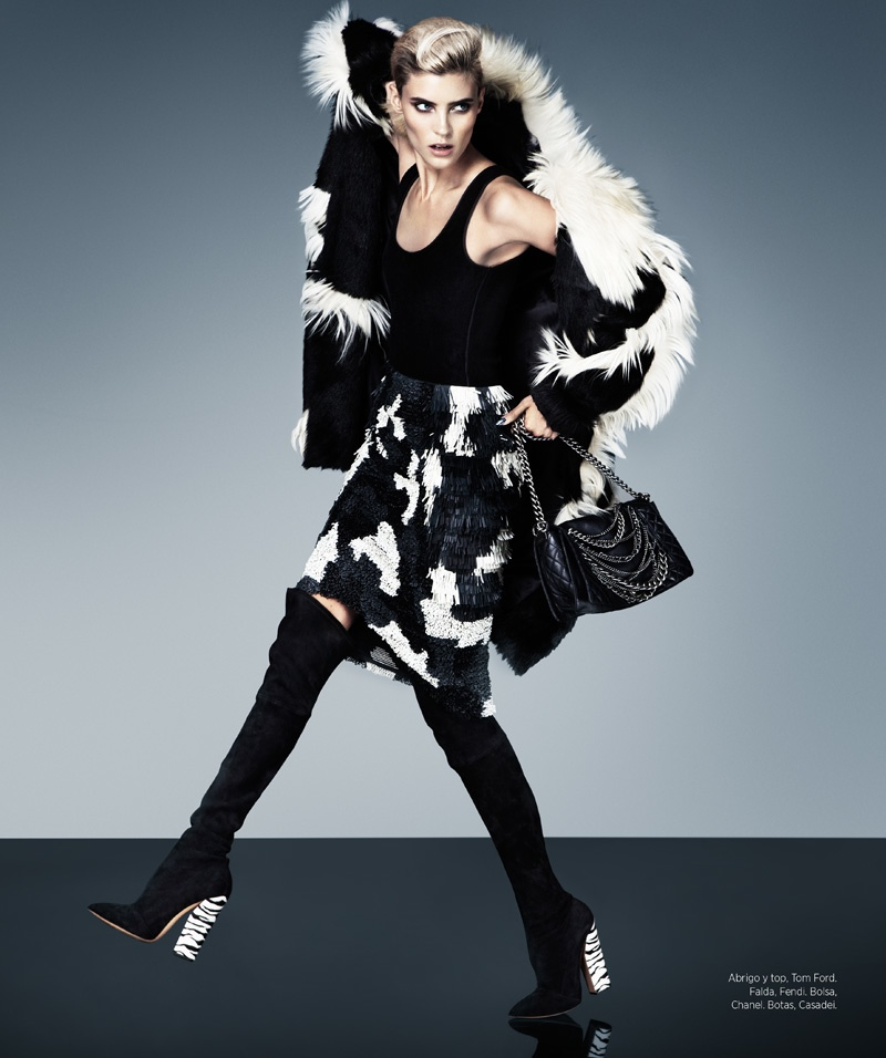 cruella fashion11 Alison Nix Channels Cruella de Vil for Harpers Bazaar Latin America by Jason Kim
