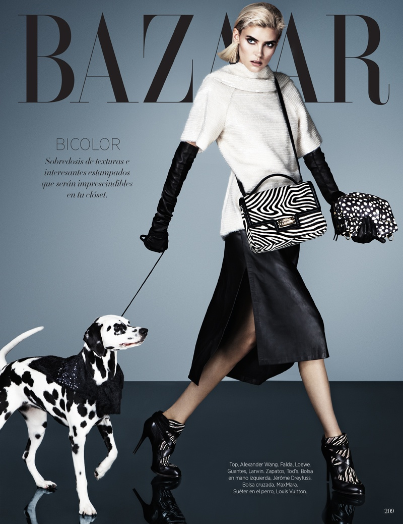 cruella fashion7 Alison Nix Channels Cruella de Vil for Harpers Bazaar Latin America by Jason Kim