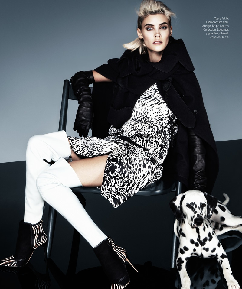 cruella fashion9 Alison Nix Channels Cruella de Vil for Harpers Bazaar Latin America by Jason Kim